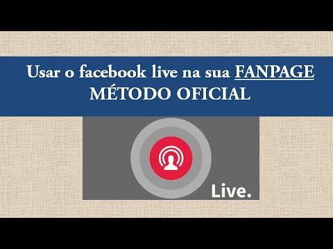 Fazer live na FanPage pelo PC - Método Oficial do Facebook