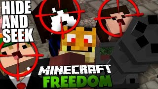 HIDE AND SEEK IN DER WELT VON MINECRAFT FREEDOM! | MINIGUN EDITION