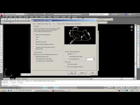AutoCAD Dimensions: Setting up a new dimension style.