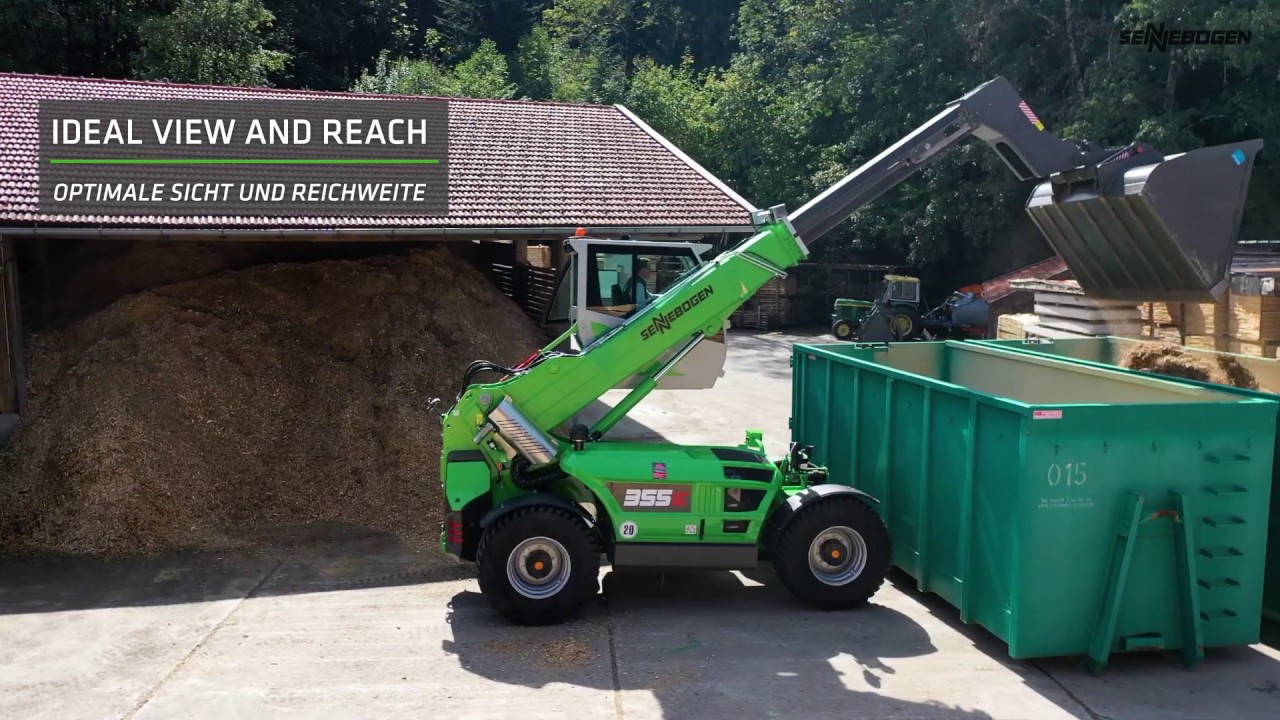 SENNEBOGEN 355 E - Timber Handling at Holzmarkt Suttner in Germany