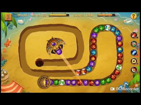 Jungle marble blast level 3 round 7 (لعبة زوما المستوى 3 الجولة 7)
