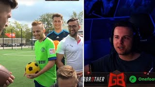 GamerBrother REAGIERT auf CREW FUSSBALL CHALLENGE 🤣⚽️ | GamerBrother Stream Highlights