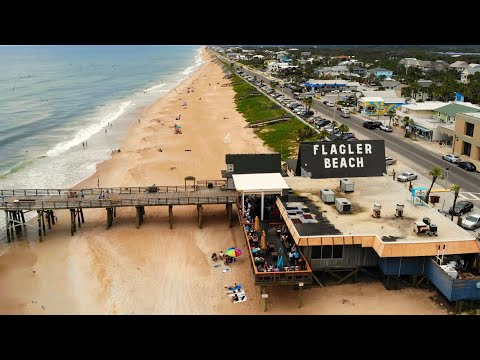 Flagler Beach Pier by Drone - Flagler Beach, FL
