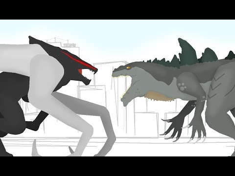 Godzilla 1998 ( Zilla ) vs MUTO | Godzilla Cartoons - DinoMania - animated cartoon movie