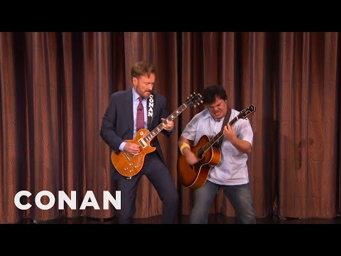 Conan And Jack Black's Guitar Battle   CONAN on TBS