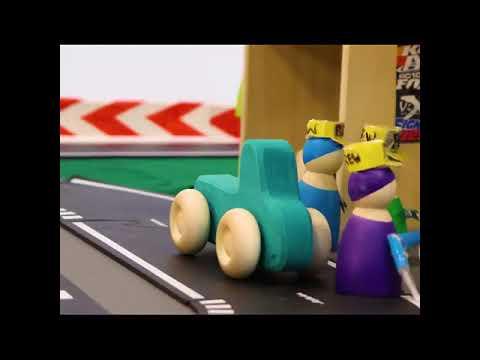 Waytoplay flexible rubber road toys car race