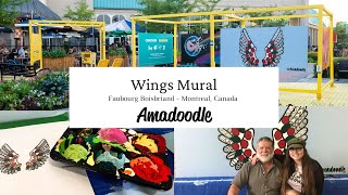 Wings Mural - Faubourg Boisbriand - Amadoodle