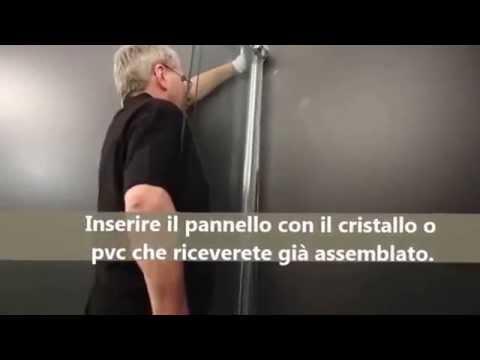 Installazione box doccia angolare.   youtube