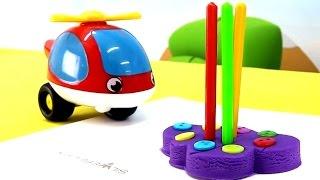 Мультики про машинки: Грузовичок и Вертолетик. Лепка из пластилина PlayDoh