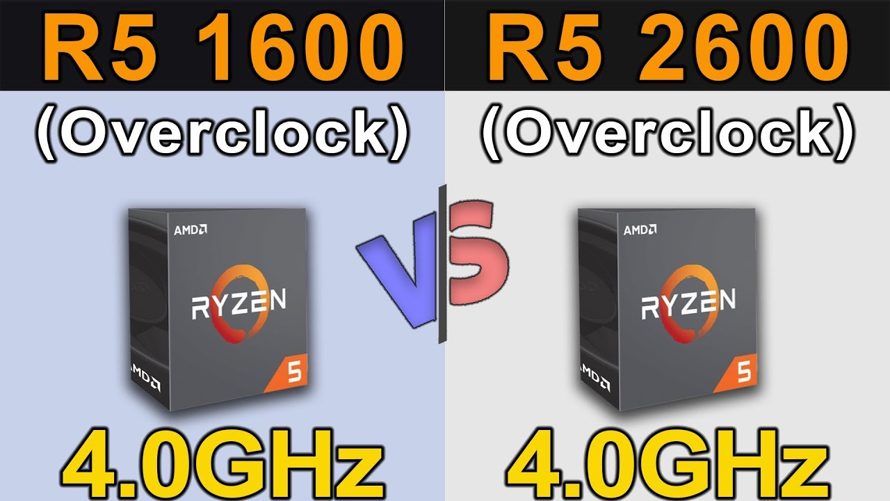 Ryzen 5 1600 4 0ghz Vs Ryzen 5 2600 4 0ghz New Games Benchmarks Youtube