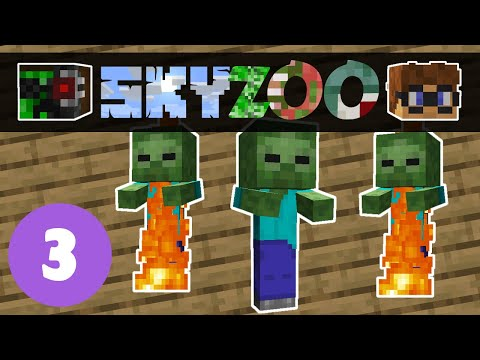 Sky Zoo #3: Three babies of the apocalypse | Minecraft Skyblock 1.14