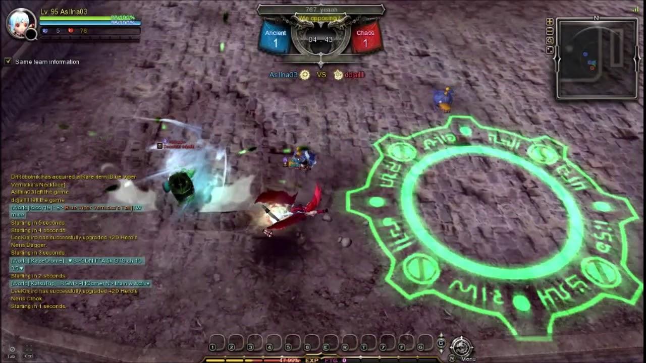 Dragon Nest SEA PVP KOF cap 95 - Shooting star vs Gear master