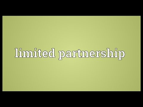 Limited partnership Meaning
