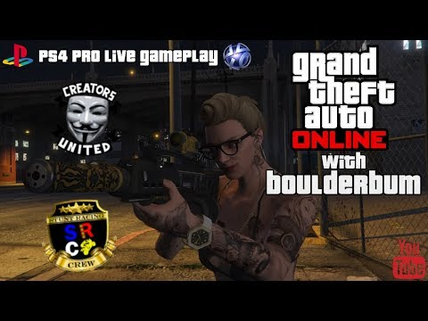 GTA Online With BoulderBum - Stunt Racing Crew Shenanigans *PS4 PRO LIVE GAMEPLAY*