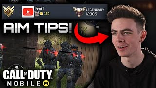 How to AIM like the #1 Ranked Player in COD Mobile!! ( 5 Tips )