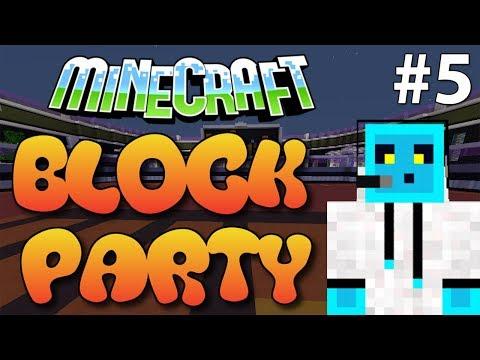 Minecraft Minigame Block Party Bölüm 5 - Herkes Düştü