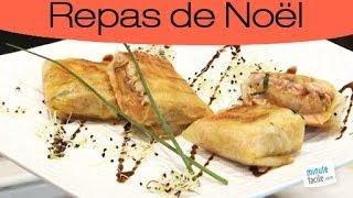 Recette de Noël : Croustillant de foie gras au saumon