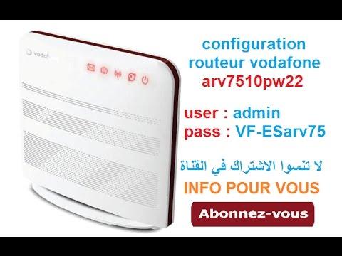 configuration routeur vodafone arv7510pw22 برمجة روتور