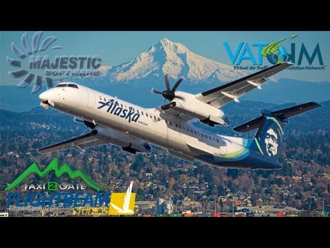 Majestic DH8D Q400 On Vatsim, Portland To Seattle