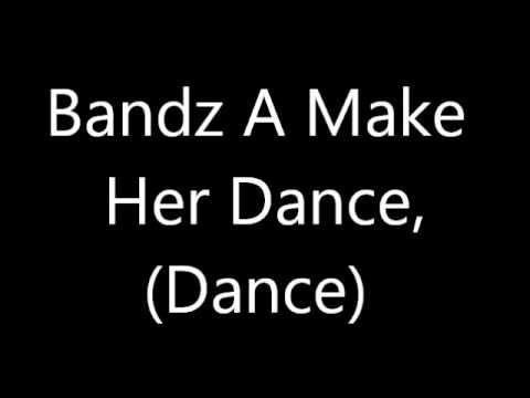 Juicy J Bandz A Make Her Dance Remix Ft Lil Wayne & 2 Chainz Lyrics On Screen