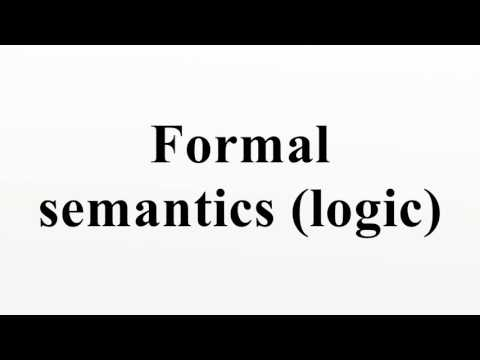 Formal semantics (logic)