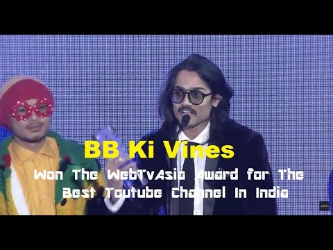 BB Ki Vines feat: Bhuvan Bam Won The Award for Best Youtube Channel in India