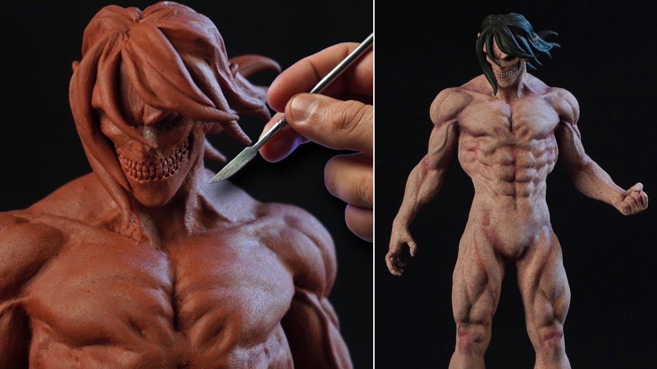 Sculpting EREN TITAN | Attack On Titan [ Shingeki No Kyojin ] The Final Season