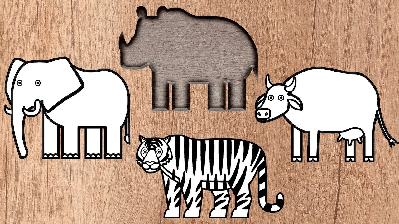 Wrong Wooden Slots with Indian Animals - Colouring Book for Kids ...