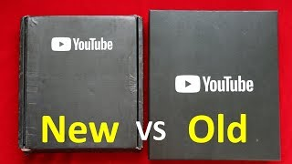 Old vs New YouTube Silver Play Button Comparison | new silver play button 2018 | silver play button