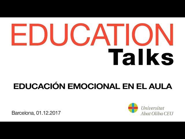 Resumen EDUCATION Talks - 'Educación emocional en el aula' - 1 de diciembre