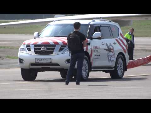 Nissan Patrol все таки протащил ТУ 154 в Красноярске ЧАСТЬ 2