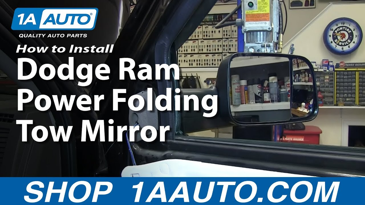 maxresdefault dodge ram power folding tow mirror upgrade installation youtube dodge tow mirror wiring diagram at readyjetset.co