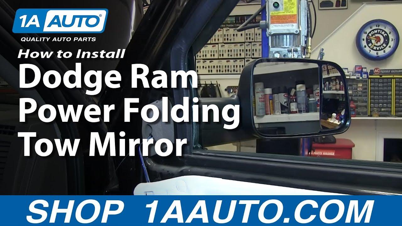 medium resolution of how to install power folding tow mirrors 09 10 dodge ram 1500