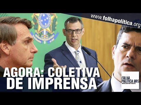 AO VIVO: COLETIVA DE IMPRENSA DO GOVERNO JAIR BOLSONARO - GENERAL RÊGO BARROS - MANIFESTAÇÃO