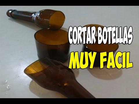 Como cortar botellas de vidrio muy facil youtube - Como cortar botellas de vidrio ...