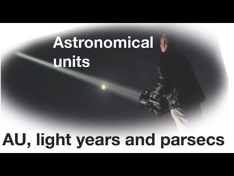 Astronomical units, parsecs and light years, explained: fizzics.org