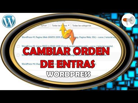 📢 Wordpress #5: Ordenar Post / Entradas y Paginas - plugin - curso / tutorial español. thumbnail
