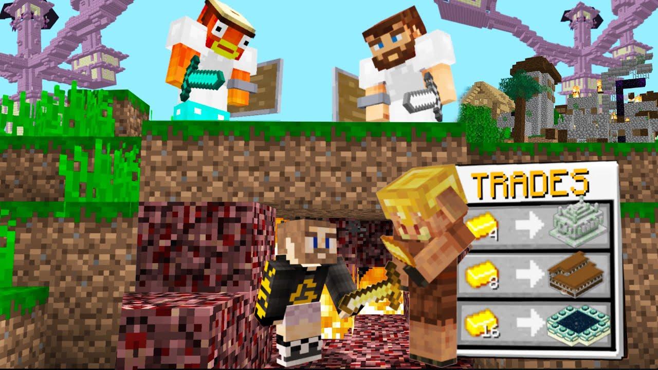 Minecraft Manhunt, But Piglins Trade Structures...