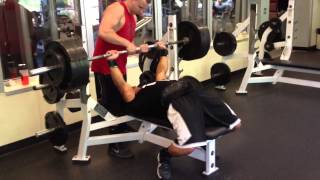 455 pound bench 20 years old 187lbs