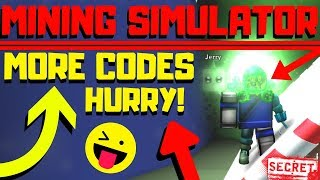 Roblox Mining Simulator: MORE Awesome CODES! (2018)