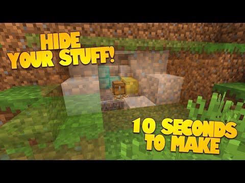 Minecraft Redstone | How to Make a Secret Room in 10 Seconds! | HIDDEN ROOMS! (Minecraft Redstone)