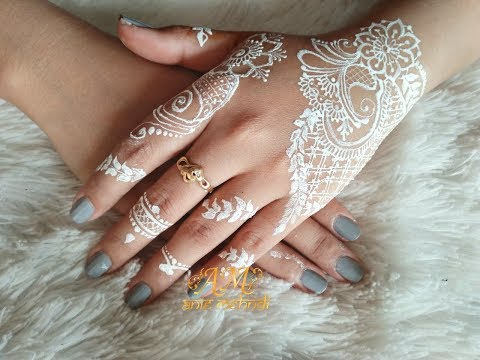 Beautyful White Henna Design For Wedding Henna Design 78