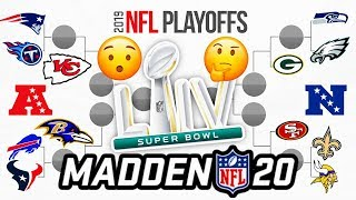 2020 NFL Playoffs, but its decided by Madden