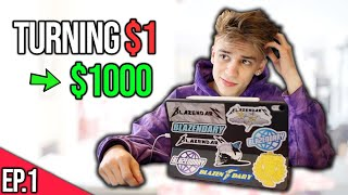 Turning $1 into $1000 CHALLENGE (Episode 1)