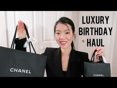 LUXURY BIRTHDAY HAUL ft. CHANEL & More! | FashionablyAMY