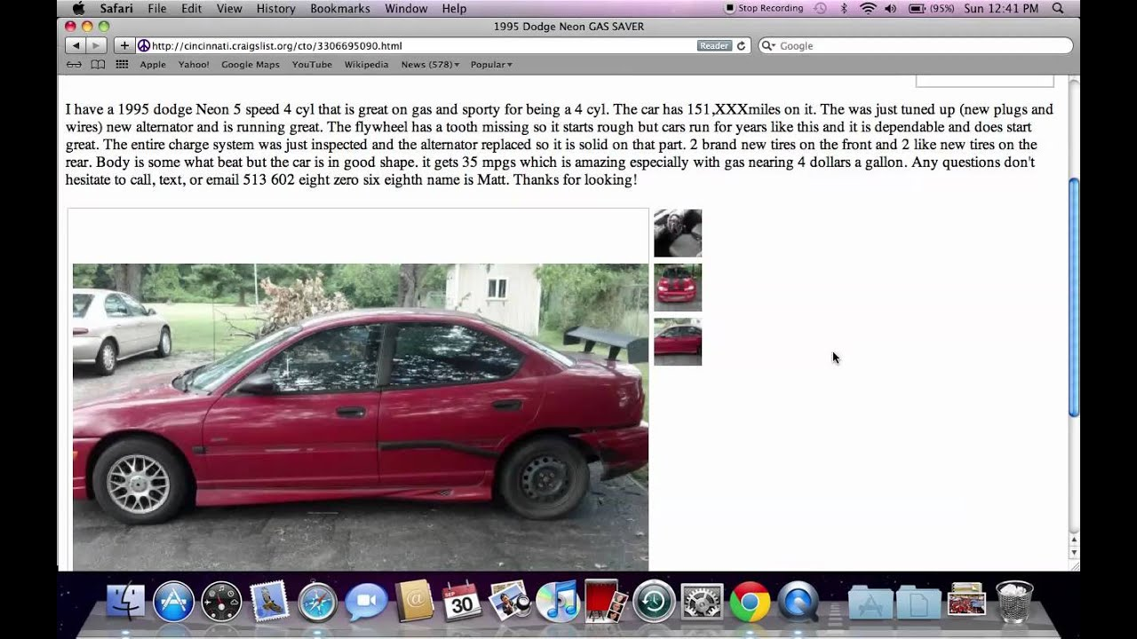 Craigslist cincinnati ohio used cars for sale by owner options on trucks and vans youtube