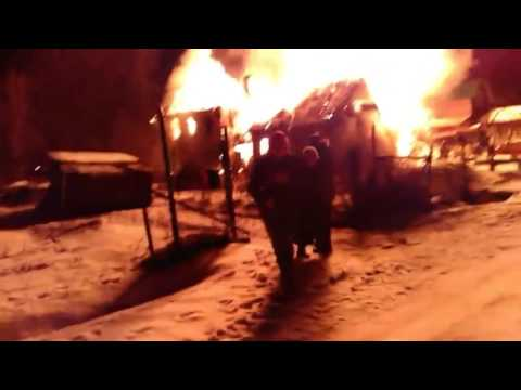 A house fire in Leningrad oblast