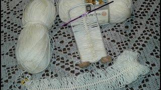 Вязание на вилке. Снуд. Часть 1 // Women's hats knitting // Сrochet scarf