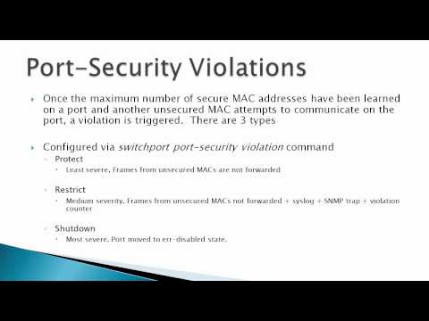 Port-Security Theory & Operations