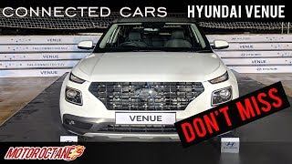 CAN'T MISS: Hyundai Venue Connected Cars | Hindi | MotorOctane